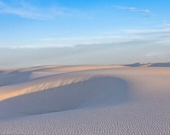 Matted, Color Photograph Print of White Sands, New Mexico