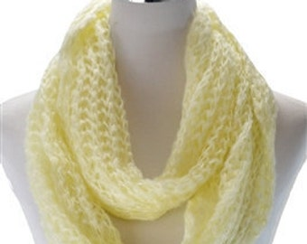 Knitted Yellow Snood / Spring Scarf / Summer Scarf / Womens Scarves / Gift for her / Lightweight Scarves / Accessories