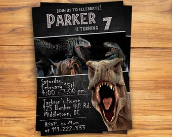 Jurassic World Invitation / Jurassic World Birthday Invitation / Jurassic Wold / Jurassic World Party / Jurassic World Card / Jurassic Park