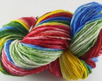 Tye-Dye Rainbow  - 100% Superwash Merino Wool SW Hand Dyed Worsted Weight Yarn