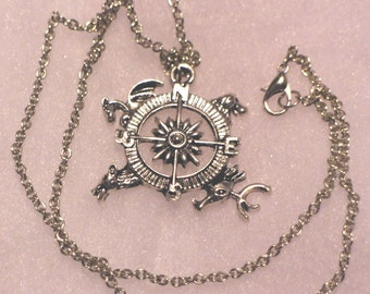 Compass Four Houses Necklace or Keychain Game of Thrones