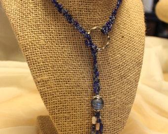 Blue Chain Lariat