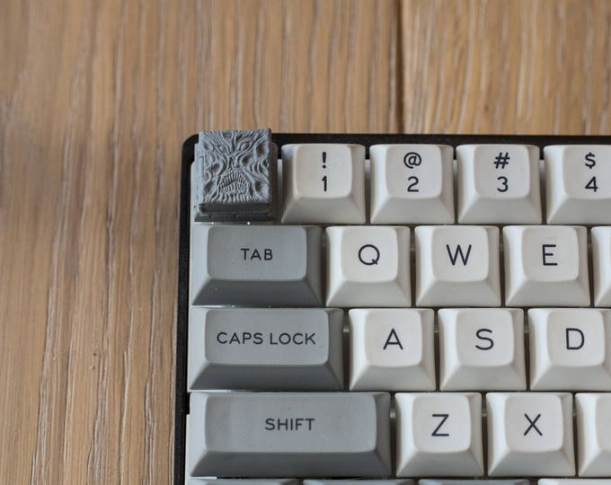 The Necronomicap - Klaatu barada necktie Cherry MX Keycap (Grey,Bronze,Black,Clear)