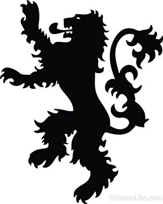 Vinyl Decal Sticker - House Lannister decal inspired by Game of Thrones GOT for Windows, Cars, Laptops, Macbook etc