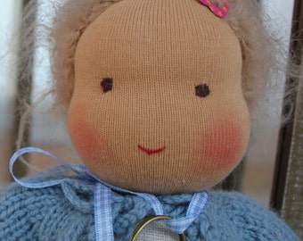 Waldorf doll in the linen bag