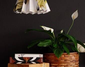 Tropical print origami fold lamp