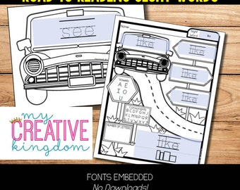 Editable PDF Road to Reading Sight Word Practice
