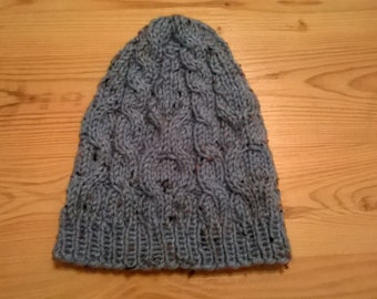 Handmade Adult Cabled Hat