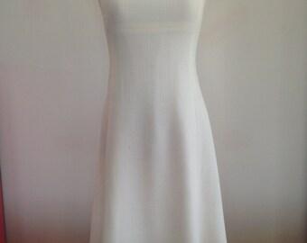 Size 8 cream vintage princess line dress