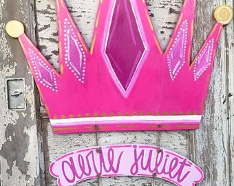 Princess Crown Hospital Door Hanger