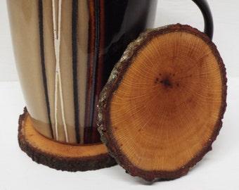 Live edge Oak wood coasters