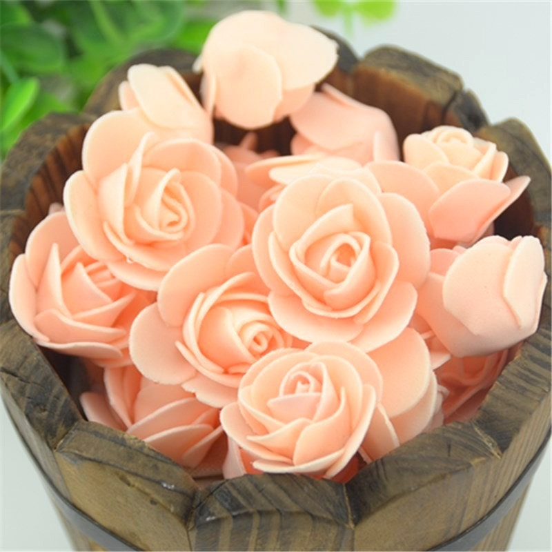 Foam rose wedding bouquet diy flower centerpiece