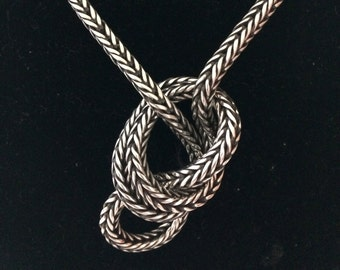 Antique Indian, heavy silver chain