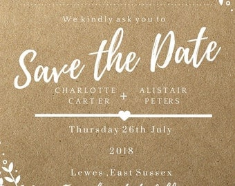 Kraft Downloadable Save The Date