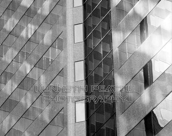 Modern black and white architectural photography. Charlotte print #3