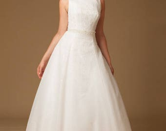 Silk Organza wedding gown