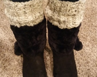 Ribbed Chunky Boot Warmers, Boot Cuffs