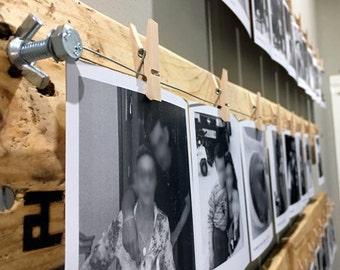 Soporte madera para fotos, Percha fotos madera, Expositor Fotos, Display Fotos, Hecho a Mano, Regalo Original, Regalo personalizado