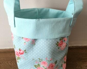 Floral Fabric Storage Basket