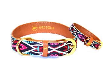 "The ""Boho"" Collar / Dog collar with a matching bracelet for the owner"