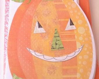 "American Greetings Halloween Pumpkin Jack-o-Lantern Greeting Cards ""Have a de-LIGHT-ful Halloween"""