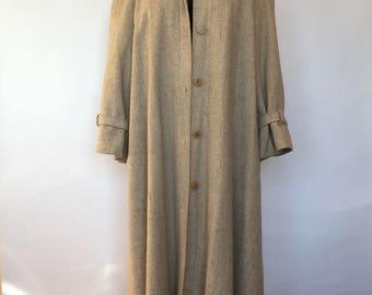 Vintage Swing Coat | Trench Coat Style | Long Coat | Vintage Coat