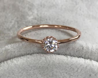 Rings, Engagement Ring, Rose Gold Ring, Wedding Ring, Promise Ring, Anniversary Ring, Gold Rings, Deilcate Ring, Diamond Birthstone Rings