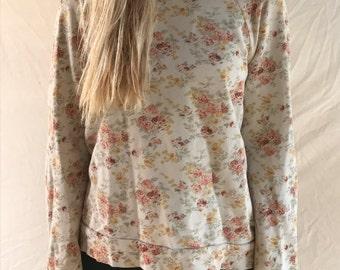 Women's Floral Sweatshirt (Size S)