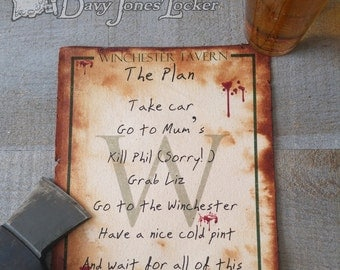 The Plan - Parchment paper - Shaun of the Dead