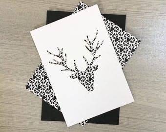 Deer pattern triangle - Collection stencil cards & reason