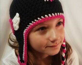Crochet Mohawk Hat (ready to ship), Mohawk Hat, Punk Hat, Biker Hat