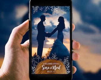 Rustic Vintage Wedding Snapchat Filter