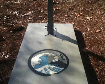 Free standing Makiwara board and base