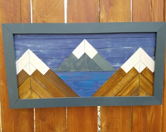Mountain Lake Wood Art