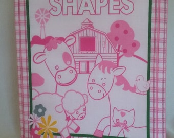 John Deere Shapes (cloth baby book)