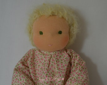 Sweet Waldorf Doll. Traditional Handmade Doll in the Waldorf Style.