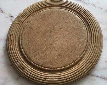 Vintage Round English Breadboard