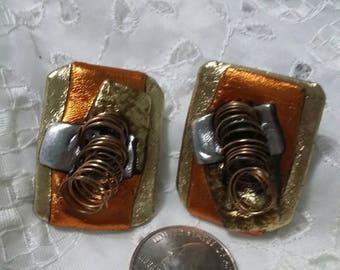 80's geometric art deco earrings