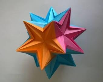 Origami Solar Flare Kusudama Ball