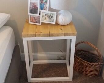 Farmhouse Nightstand | Reclaimed Wood | Minimalist Wooden Furniture | Bedroom Nightstand Furniture | Vanity Nightstand