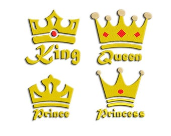 Crowns Embroidery design - Family Crowns - Machine embroidery design - NushNusha shop