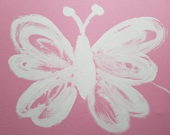Acrylic Butterfly in Pink