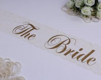 Bride Sash. Bridal Sash. Lace Sash. Bride Lace Sash. Bride. Bride to Be. Wedding Party. Birthday Sash. Lace Sashes. Bride Gift