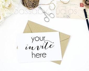 Vintage Invitation Desk Styled Stock Photography / Product Mockup / Styled Photo / Blog / Website / Sassaby Studios / Wedding Invite #9290