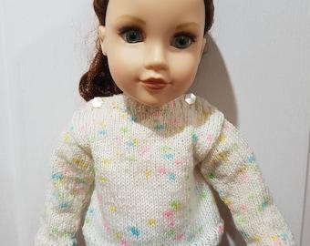 Rainbow Fleck Jumper - Journey Girl Doll