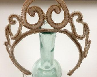 Vintage beaded wedding  tiara