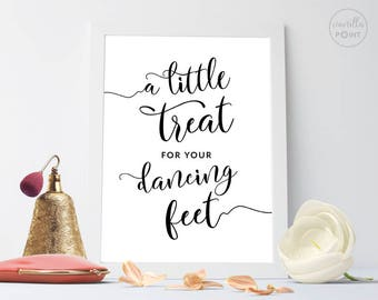 Wedding Dancing Shoes Sign, A Little Treat For Your Dancing Feet, Flip Flop Wedding Sign, Wedding Printable Sign, Rustic Wedding Decor