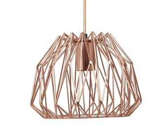 Rose Gold Copper Pendant Light