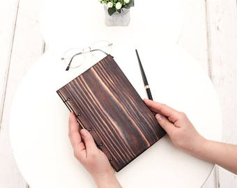 Wood Journal, Wooden Notebook, Diy Gift, Wooden Cover Sketchbook, Gifts for Him, Diary Notebook, Wood Planner, Appointment Book, A5 Notebook