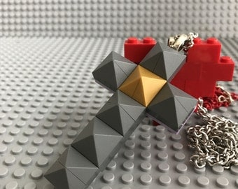 Lego® Cross Necklace/ Punk Pyramid Necklace/ Cross Necklace